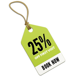 25% off first visit price list