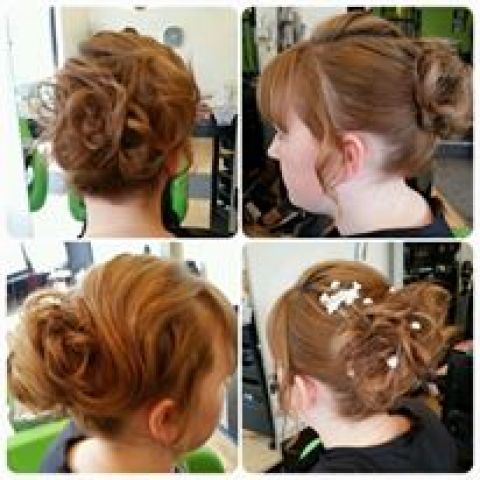 S Wave Messy Bun Hair Up