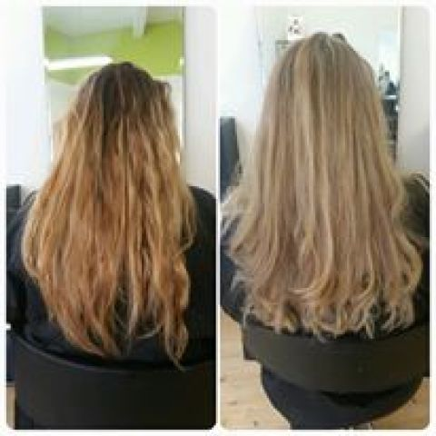 Beige Blonde Colour Change