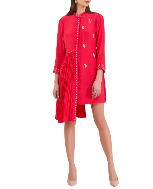 Embroidered Asymmetrical Tunic