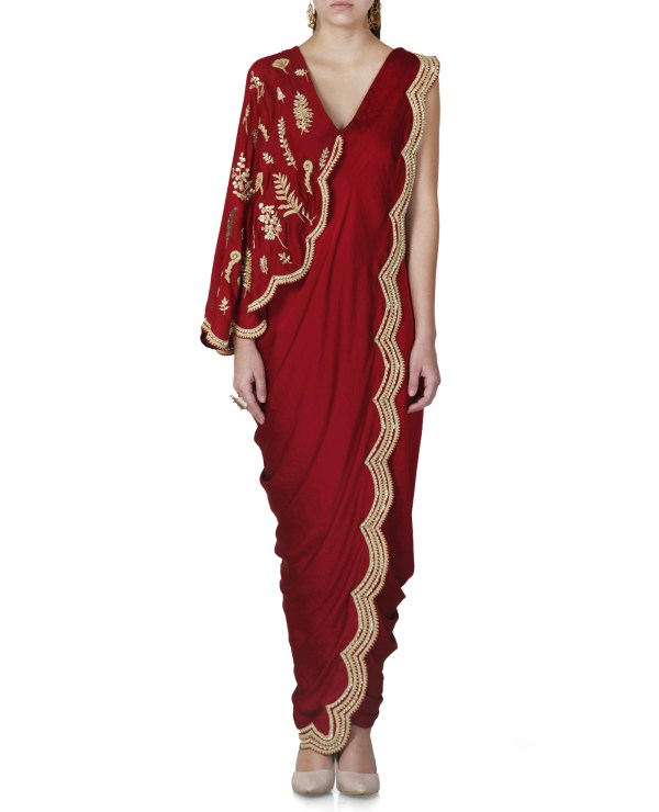 embroidered-pre-stitched-saree