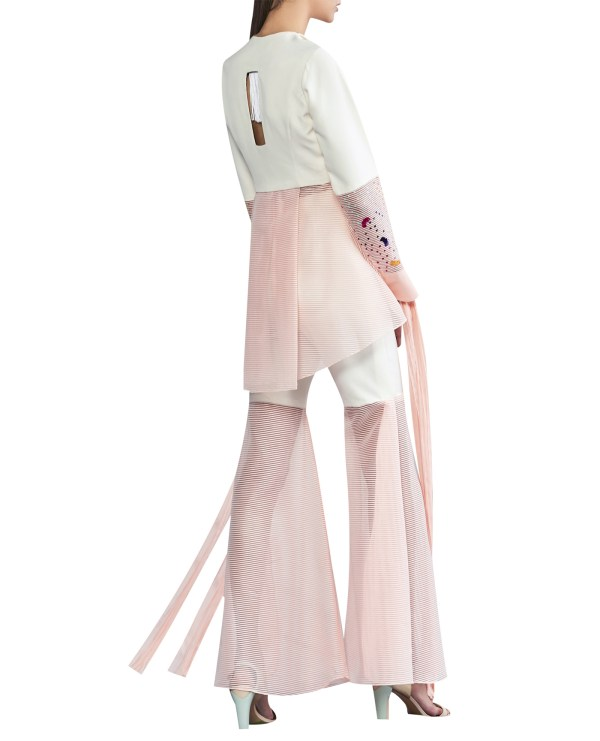 Flared Sheer Pants