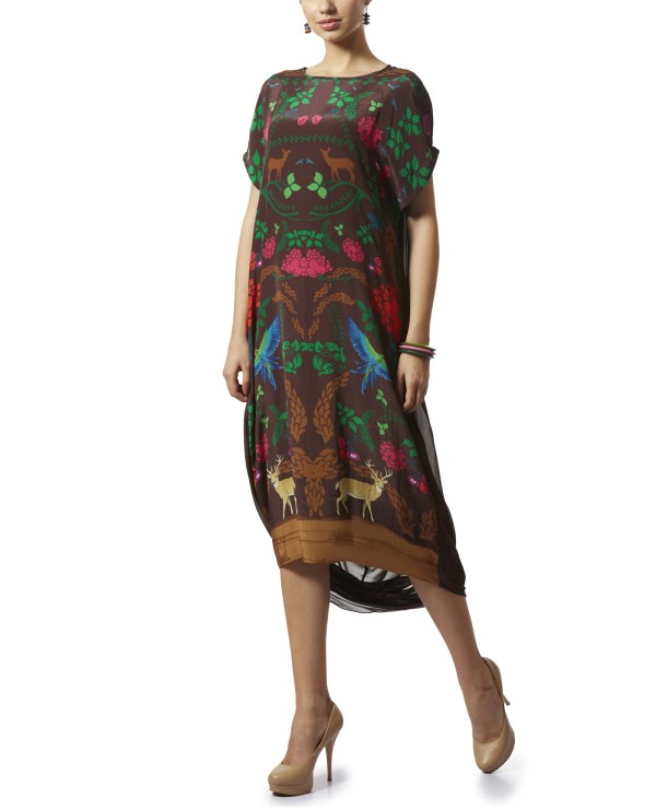 Printed Tunic with a Cowl back