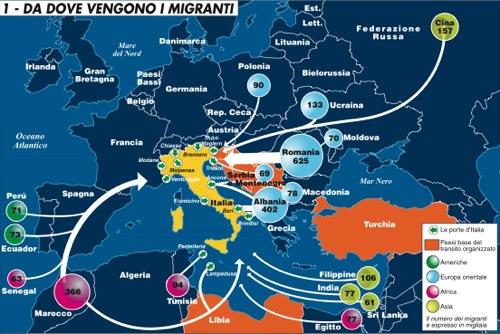Da dove vengono i migranti
