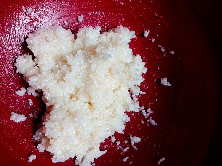 dairy free coconut condensed milk mixed with desiccated coconut