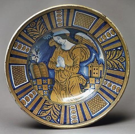 Lustre majolica plate. 1520, Deruta, Italy