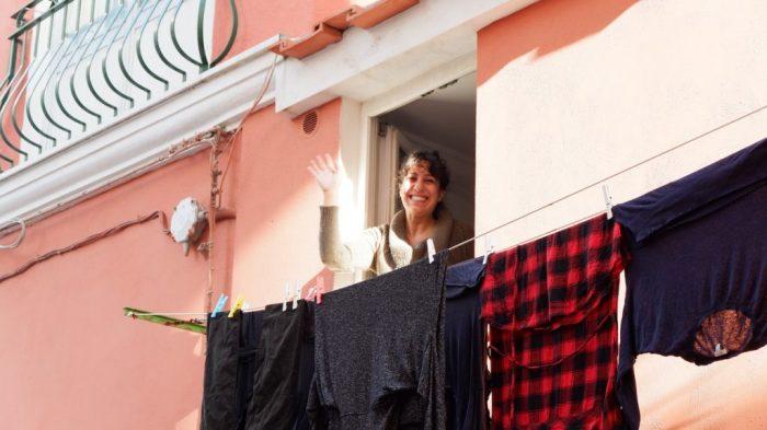 Hanging laundry, Ischia Ponte