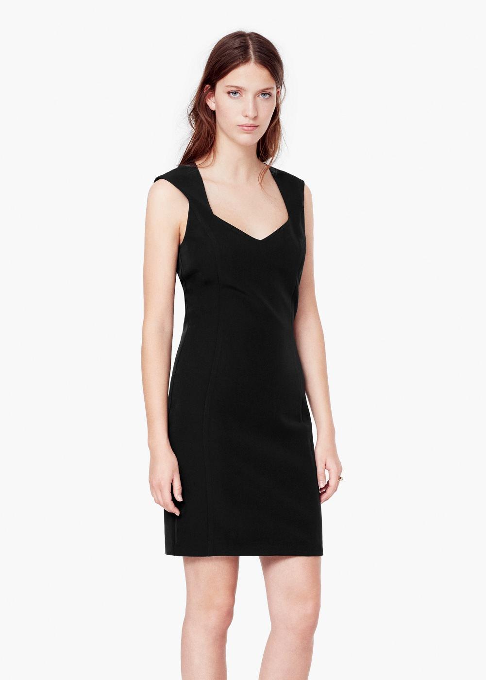 vestito nero _mango