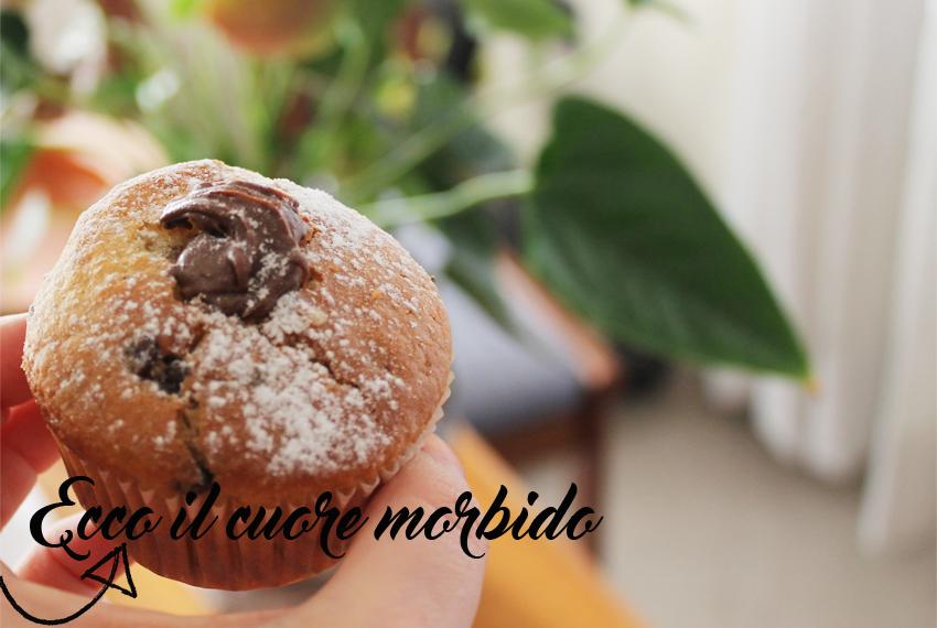 muffin gocce di ciccolata e cuore morbido-3