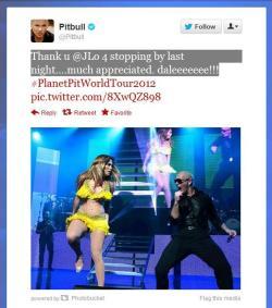Jennifer Lopez & Pitt Bull in Concert performing On the Floor August 9, 2012