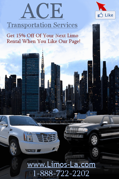 Orange County Limo - Like Facebook Page - Southern Calfornia Limousine Coupon
