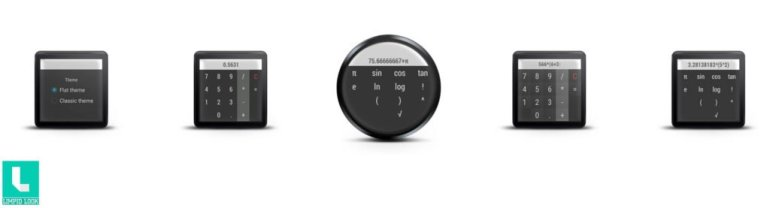 Android Wear Calculator App Screens