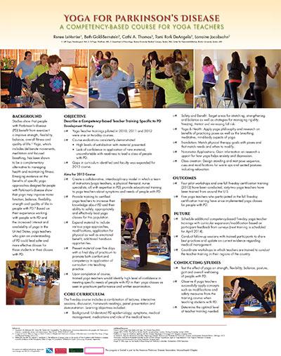 Parkinsons Yoga Teacher Training Poster