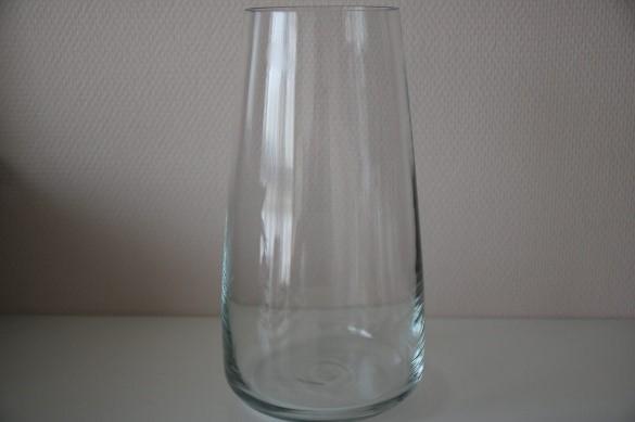Découpage sur verre - vase transparent