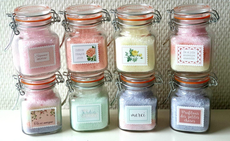 LInaHaeg Sels de bain colorés et parfumés aux huiles essentielles