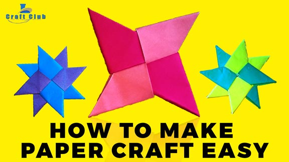 How To Make Simple Easy Paper Star Linas Craft Club