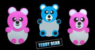how to make teddy bear by paper