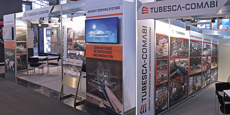 Stand TUBESCA-COMABI Aircraft Docking Systems
