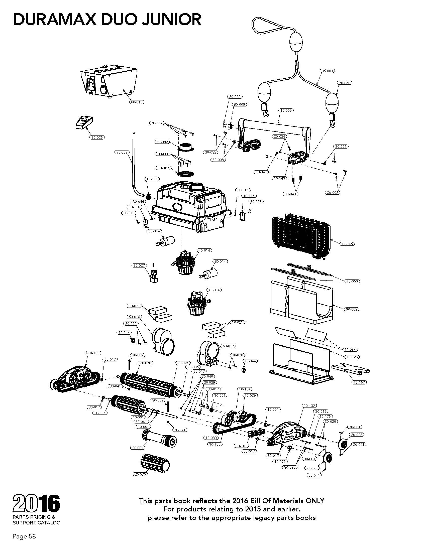 Duramax Duo Jr Parts Diagram And Parts List