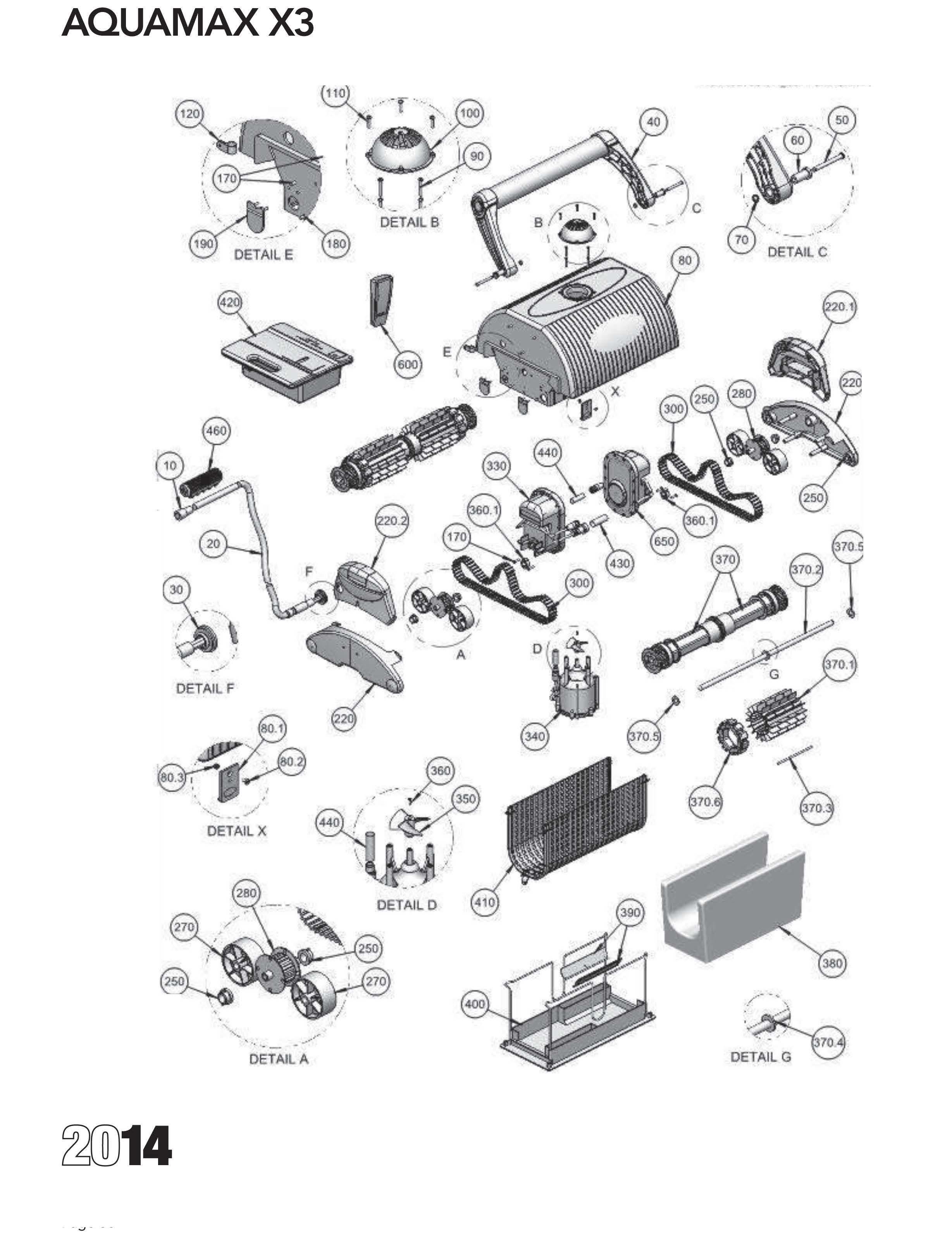 Aquamax X3 Parts Diagram And Parts List