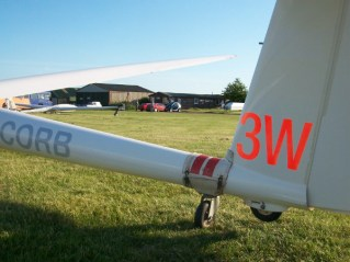 Paul's silver distance flight (50km). Look at the clubhouse for evidence of location!