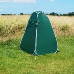 Odourless camping toilet complete with privacy tent