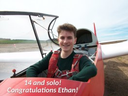 Solo before his 15th birthday. Well done Ethan.