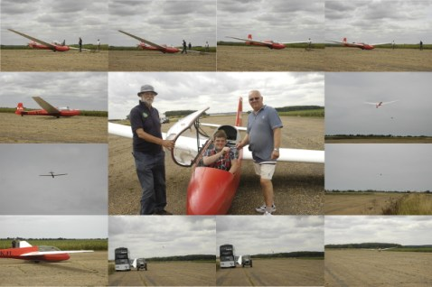Six weeks of determination, patience and sheer helpfulness pay off in first solo flight! Well done Jon!