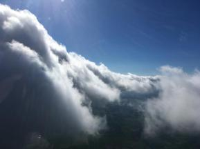 Up amongst the clouds