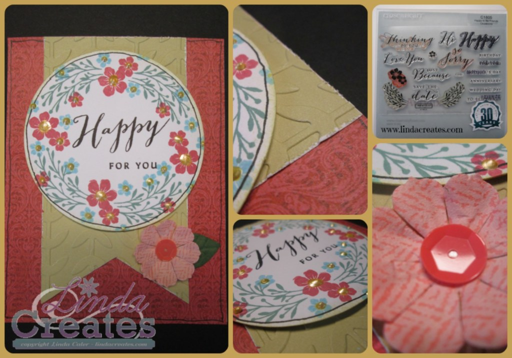 Happy For You Card Linda Creates ~ Linda Caler www.lindacreates.com