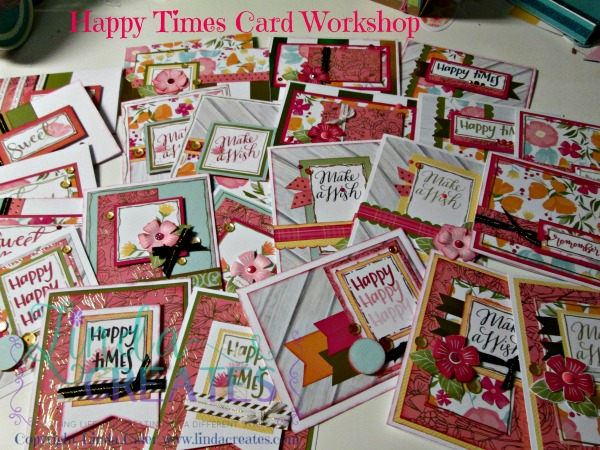 Happy Times piles of cards