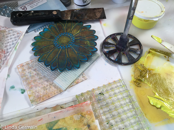 stamping tools for gelatin printmaking