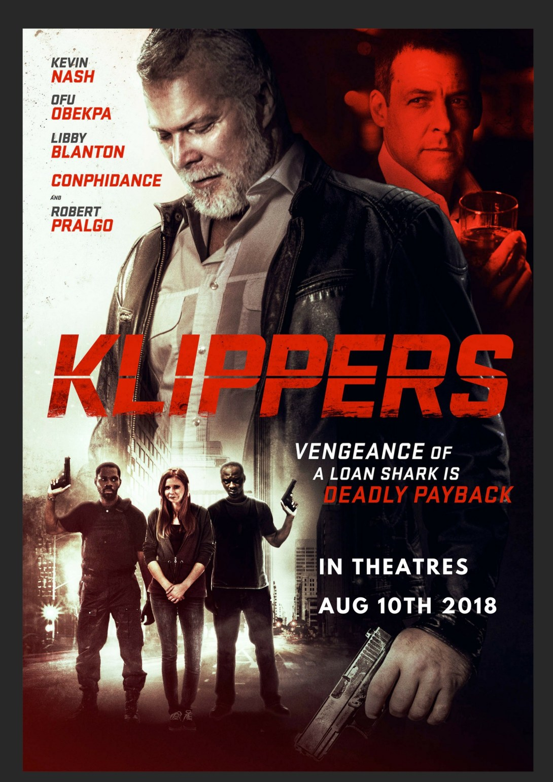 Ofu Obekpa WWE Legend Kevin Nash Conphidance Libby Blanton star in mind blowing action movie Klippers