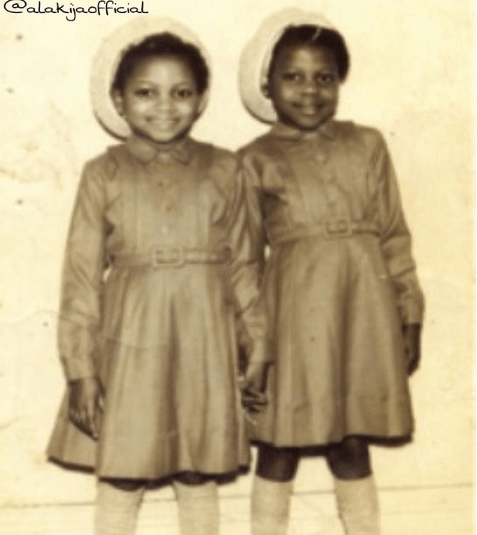Nigeria's richest woman Folorunso Alakiji shares major throwback photo of herself as a 7-year-old in 1951 with her sister