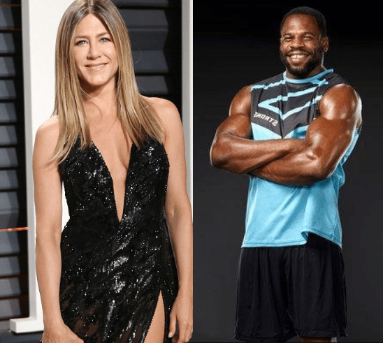 Actress Jennifer Aniston, 49, hires hunky Nigerian personal trainer 18 years her junior for boxing workouts at her LA mansion(Photos)