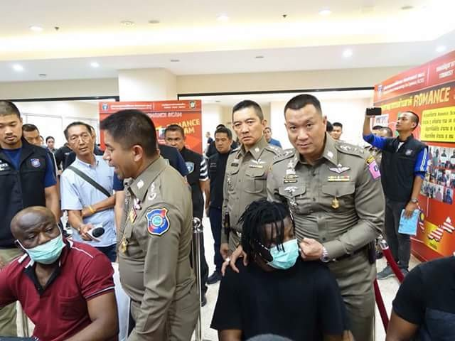Eight Nigerian men six other suspects arrested in Thailand for online romance scam