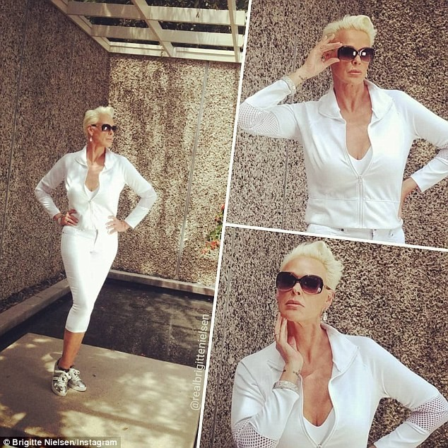 Sylvester Stallone's ex-wife Brigitte Nielsen, 55, shows off stunning post-baby body after welcoming her fifth child
