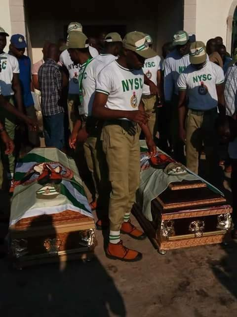 Bodies of Corps members who drowned in Taraba river, conveyed to their various states for burial
