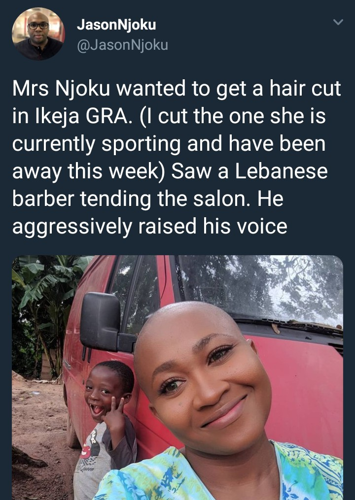 Fwd: Jason Njoku narrates experience his wife had with a Lebanese barber in Lagos who refuses to cut her hair