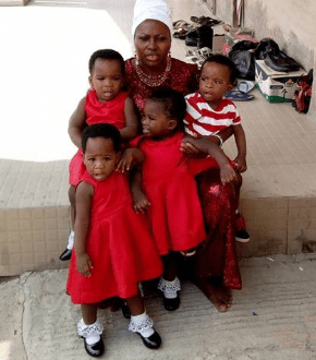 Woman celebrates her Quadruplets who were born after 15 years of waiting