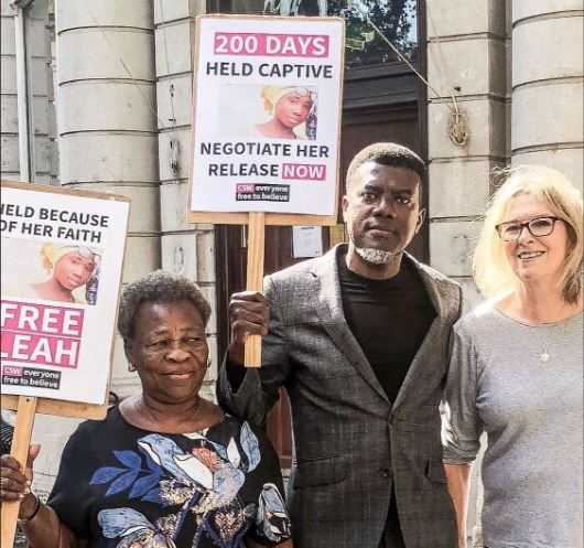 RenoOmokri leads protest In London200 days after Leah Sharibu's abduction