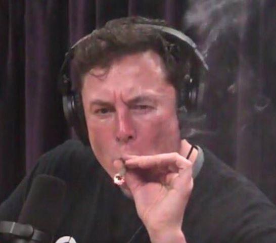 Photos: Tesla CEO, Elon Musk smokes 'weed' during Interview with Joe Rogan