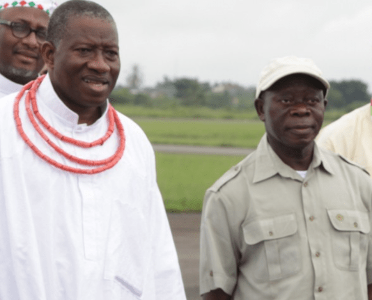 Oshiomole fires back at Goodluck Jonathan, says former president is a  ''zoologist from the swamps of Otueke who ran a disastrous presidency''.