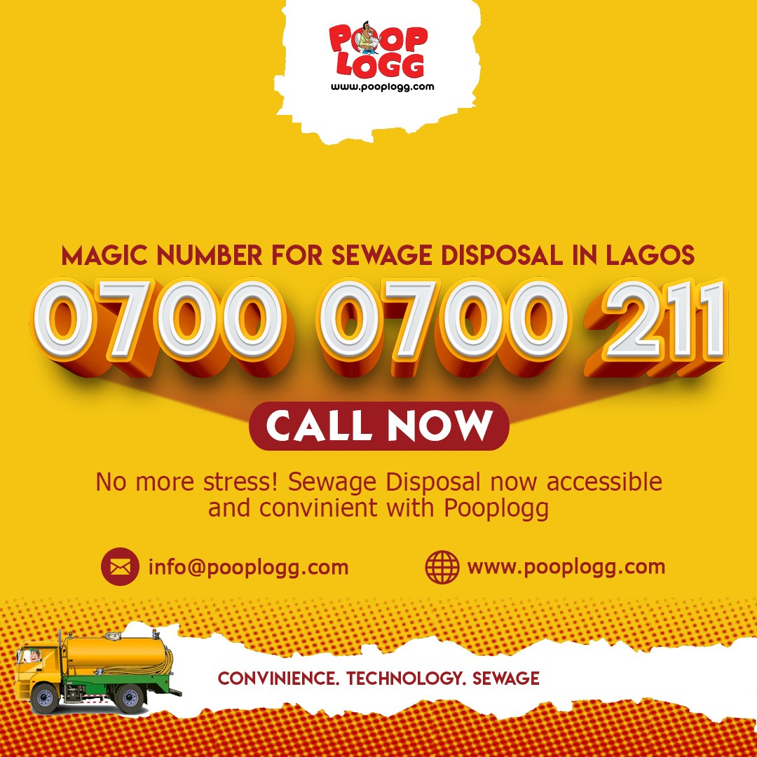 Magic number for sewage disposal in Lagos...  Call PoopLogg now
