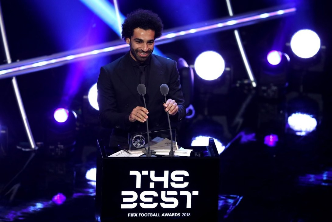 Mohamed Salah wins Puskas Award for best goal at FIFA's The Best Awards