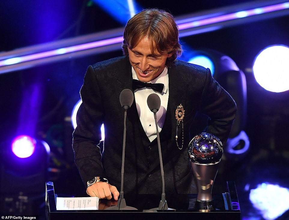 FIFA Best Awards 2018: Luka Modric wins Men's Player of the Year to bring Cristiano Ronaldo and Lionel Messi's decade of dominance to an end