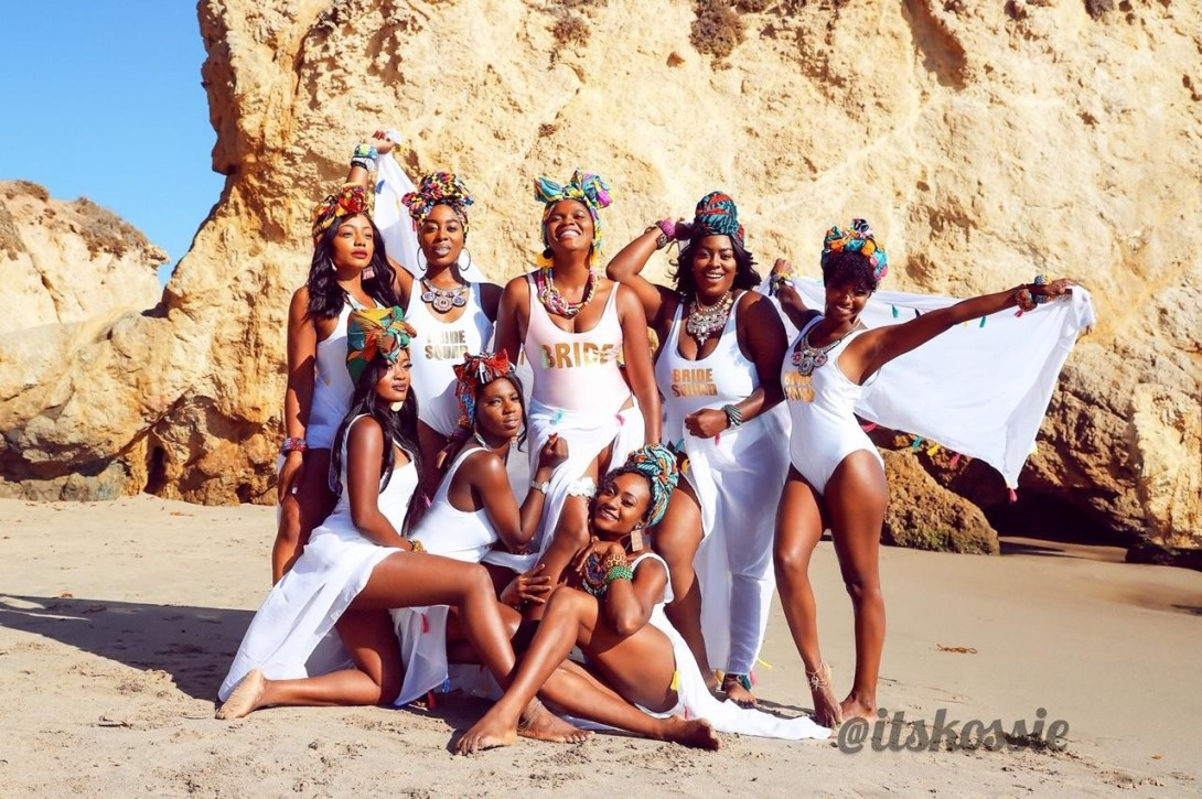 Nollywood Actor Michael Okons bride-to- be, Kosi Obialor releases ohotos from Wakanda inspired Bachelorette Shoot