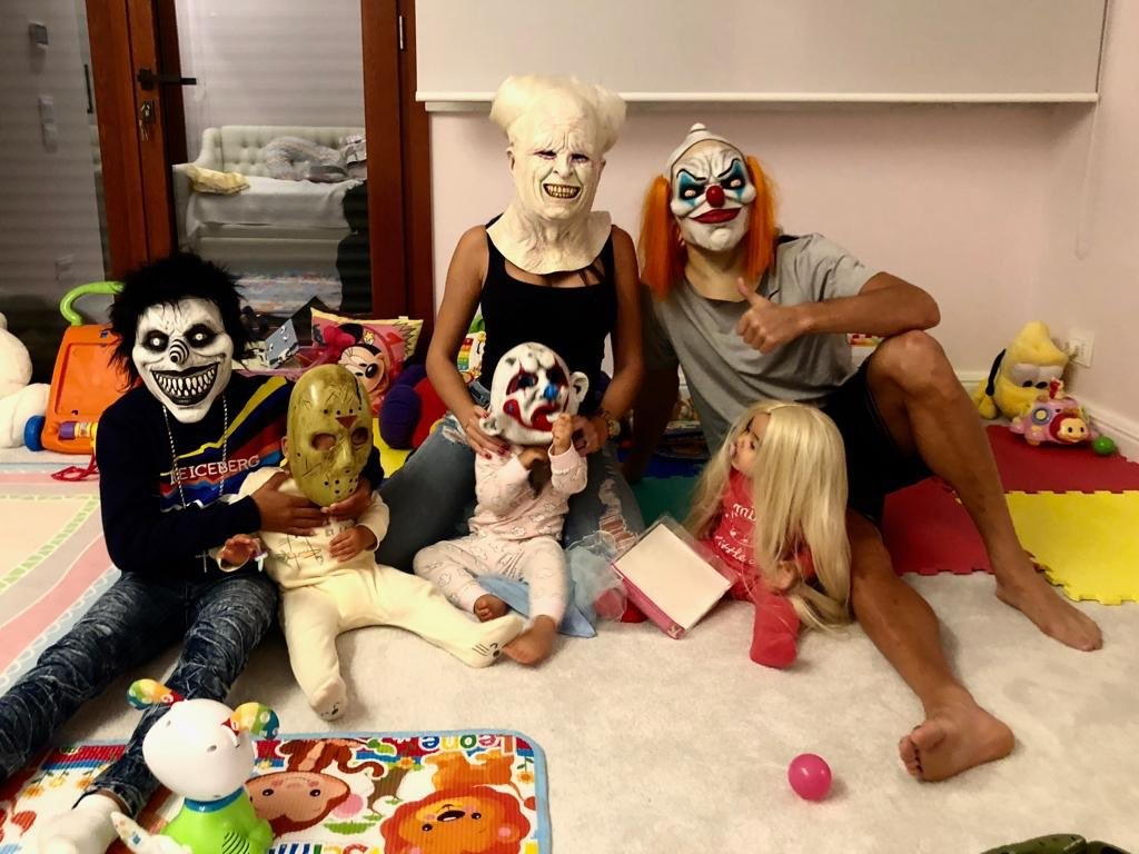 Cristiano Ronaldo and his family show off their 'scary' Haloween looks(Photo)