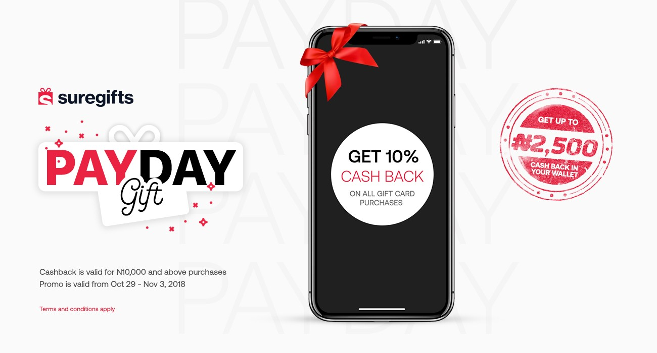 This sponsored post will help you save money on shopping. See what SureGifts is doing with PayDay Gift!