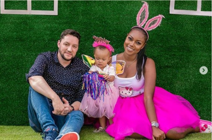 Adorable photos of Yvonne Nelson and her babydaddy at their daughters first birthday party